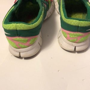 Nike Lime Green & Pink Sneakers size 9